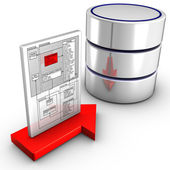 Import a schema to a database — Stock Photo