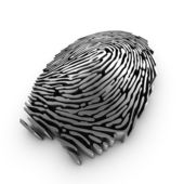 Digital fingerprint for authentication — 图库照片