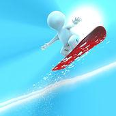 非常に高いジャンプ スノーボーダー — ストック写真