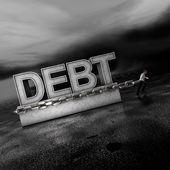 Długu: Wagi na rynkach posuwają się do przodu — Zdjęcie stockowe