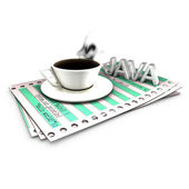 Functionalities implementation with Java source code — Stock Photo