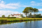 Lancaster canal scenic — Stock Photo