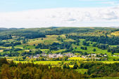 Aerial view of Hawkshead village — Stock Photo