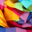 Multicolored wool scarf — Stock Photo