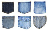 Jeans pockets isolated — Stock Photo