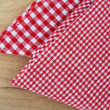 Checkered tablecloth — Stock Photo #6606590