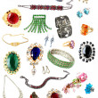 Collection of feminine accessories - Stock Photo