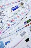 Postcards back — Stock Photo