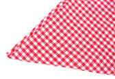 Checkered napkin isolated — Stock Photo