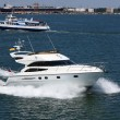 White speeding motor yacht — Stock Photo #6617008