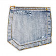Stock Photo: Blue jeans pocket isolated
