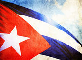 Cuba flag waving in the wind — Stock Photo