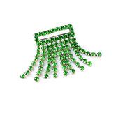 Emerald green brooch — Stock Photo
