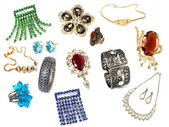 Collection of feminine accessories — Stock Photo