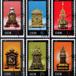 Collection of ancient clocks — Stock Photo