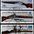 Стоковое фото: Post stamps shows ancient guns