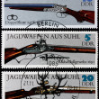 Stock Photo: Post stamps shows ancient guns