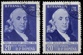 Portrairt of Benjamin Franklin — Stock Photo