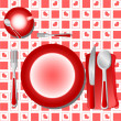 Dinner table vector — Vector de stock #6603732