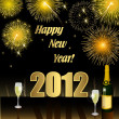 Stock Photo: Happy New Year 2012