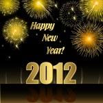 Feliz año nuevo 2012 — Vector de stock