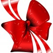 Stock Vector: Red bow