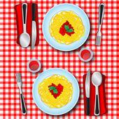 Love's spaghetti — Stock Photo