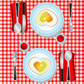 I love fried eggs — Stock Vector