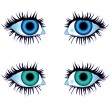 Stock Vector: Eyes of body parts