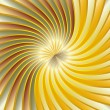 Gold spiral vortex — Stock Vector