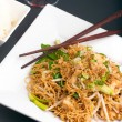 Thai Noodle Stir Fry with Chicken - Stock Photo