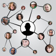Social Networking Friends Diagram — Stock Photo