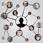 社会的なネットワー キングの友達図 — ストック写真