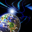 Stock Photo: Global Worldwide Network of
