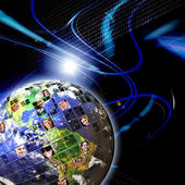 Globala världsomspännande nätverk av — Stockfoto