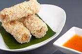 Krispigt thailändska rullar ägg — Stockfoto