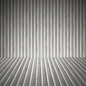 Interni di metallo ondulato — Foto Stock