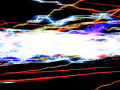 Funky Light Trails Layout — Stock Photo