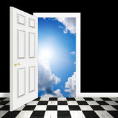 Surreal Heavenly Doorway — Stock Photo