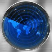 Blue World Radar — Stock Photo