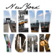 NYC New York City Graphic Montage — Stock Photo