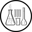 Vector chemical test tubes icon — Vettoriali Stock