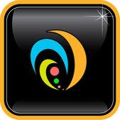 Vector abstract internet icon — Stock Vector