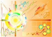 Resumen antecedentes de alta tecnología — Vector de stock