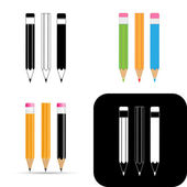 Pencils icons — Stock Vector
