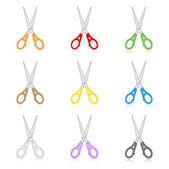 Scissors icons — Stock Vector