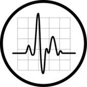 ベクトル心電図のアイコン — ストックベクタ