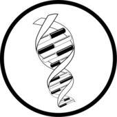 Vector DNA icon — Stock Vector