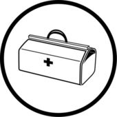 Vector medical suitcase icon — Stock Vector