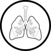 Vector lungs icon — Stock Vector